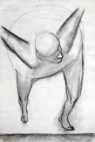 Grafito sobre papel con enduido